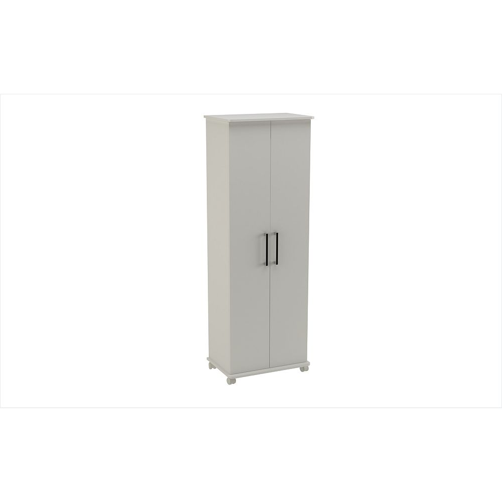 Accentuations by Manhattan Comfort Catalonia Mobile Shoe Closet 1.0 with  10 shelves in White