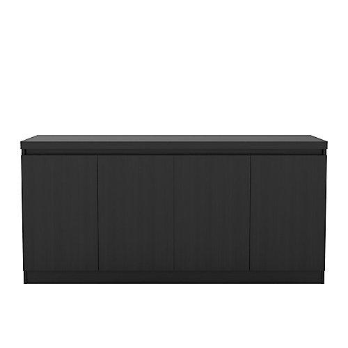 Viennois 62,99 pouce Cabinet buffet avec 6 étagères en noir
