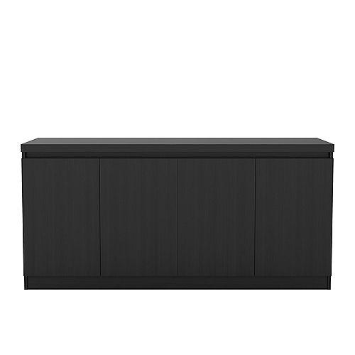Viennese 62.99 in. 6- Shelf Buffet Cabinet  in Black Matte