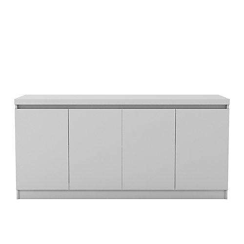 Viennois 62,99 pouce Cabinet buffet avec 6 étagères en blanc