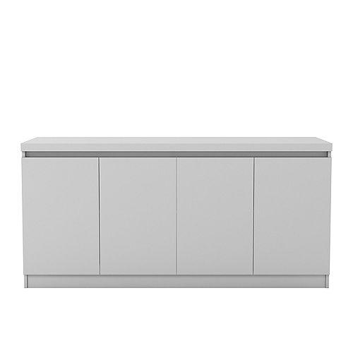 Viennese 62.99 in. 6- Shelf Buffet Cabinet  in White Gloss