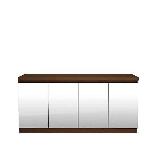 Viennois 62,99 pouce brun buffet avec miroirs et 6 étagères