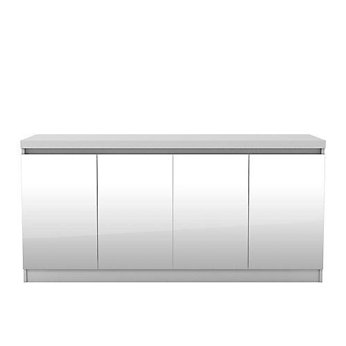 Viennois 62,99 pouce blanc buffet avec miroirs et 6 étagères