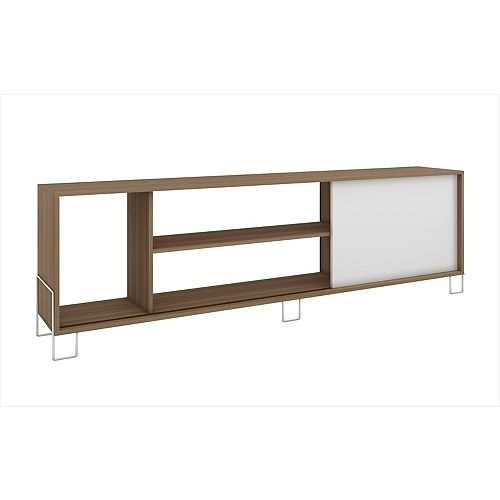 Nacka TV Stand 1.0 with  4 shelves in Oak and White