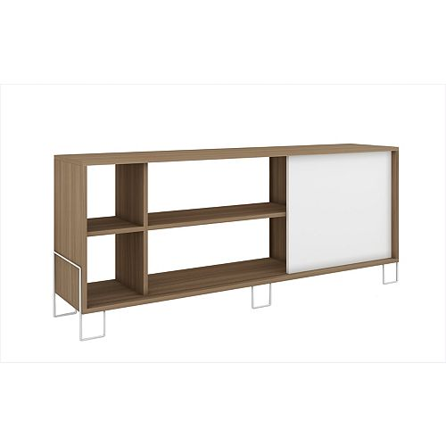 Nacka TV Stand 2.0 with  4 shelves in Oak and White