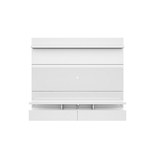 City 1.8 Floating Wall theatre Entertainment Center in White Gloss