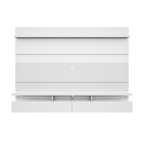 City 2.2 Floating Wall theatre Entertainment Center in White Gloss
