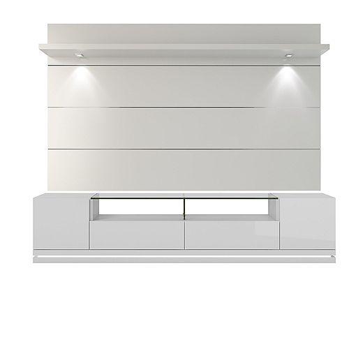 Vanderbilt Support de TV et Cabrini 2.2 Panneau de télévision flottant avec lumières LED en blanc