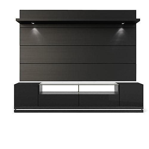 Vanderbilt Support de TV et Cabrini 2.2 Panneau de télévision flottant avec lumières LED en noir