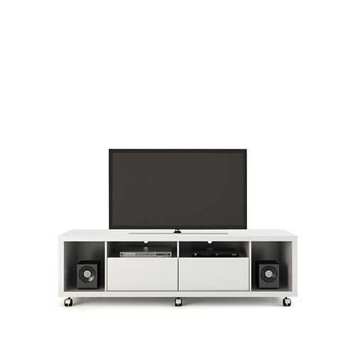 Manhattan Comfort Cabrini TV Stand 1.8 in White Gloss