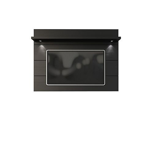 Cabrini Floating Wall TV Panel 1.8 in Black Matte