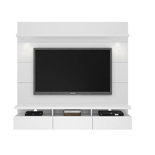Cabrini 1.8 Floating Wall theatre Entertainment Center in White Gloss