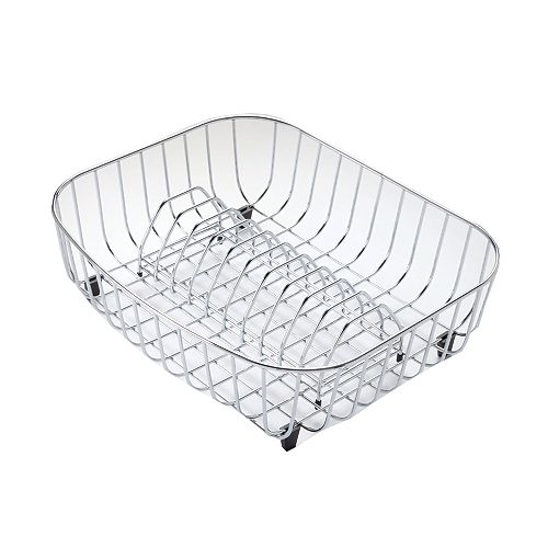 Égouttoir à vaisselle en acier inoxydable - 15 7/10 inch x 13  inch x 4 7/10 inch
