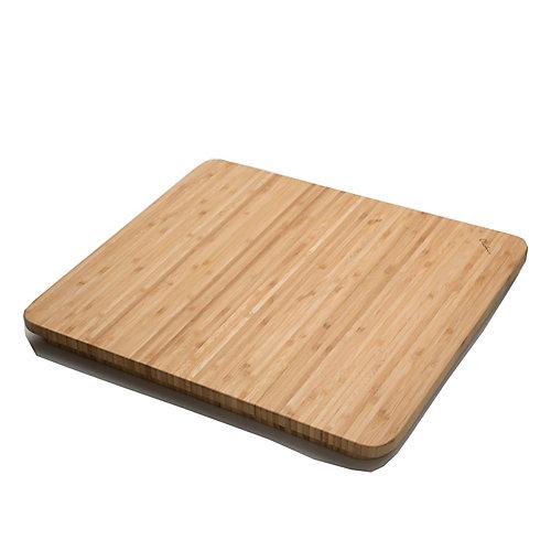 Bamboo Cutting Board - 16.5 inch x 14  inch x 1  inch