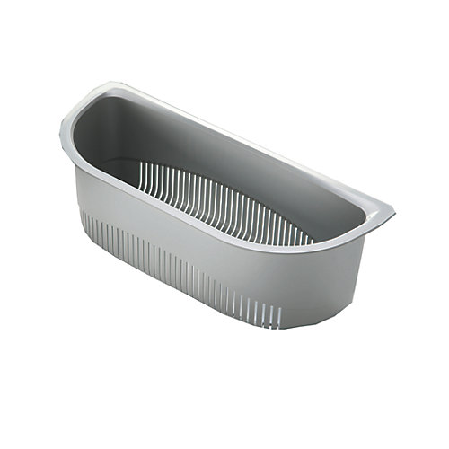 Food-Grade Plastic Colander -  5 9/10 inch x 14  inch x 4 3/10 inch