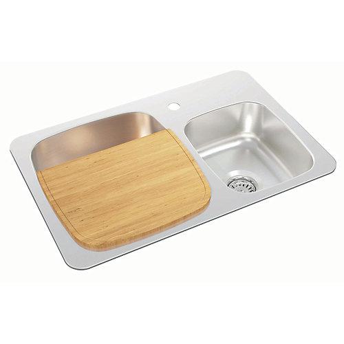 Rubberwood Cutting Board - 11.38 inch x 14.63 inch