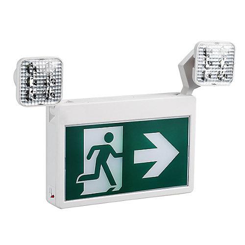 2-Light LED Running Man Exit Sign