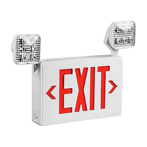 2-Light LED Exit Sign