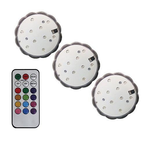 Remote Led Colour Change Sub. 3 Pack