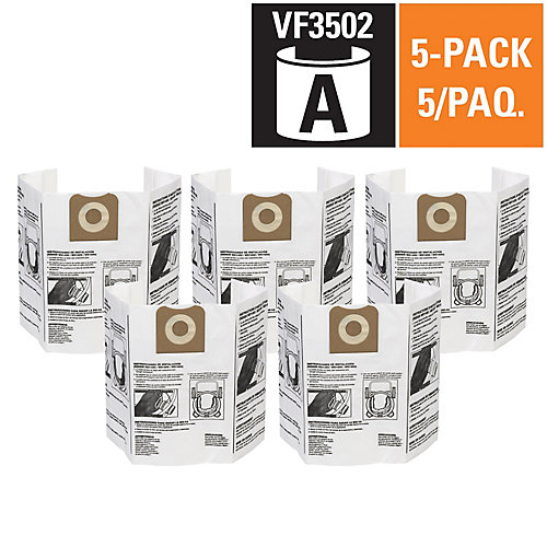 Vacuum Dust Bags VF3502 Type A - 45 L to 60 L (5-Pack)