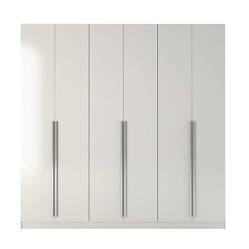 Armoire Eldridge 4 tiroirs en brillant blanc