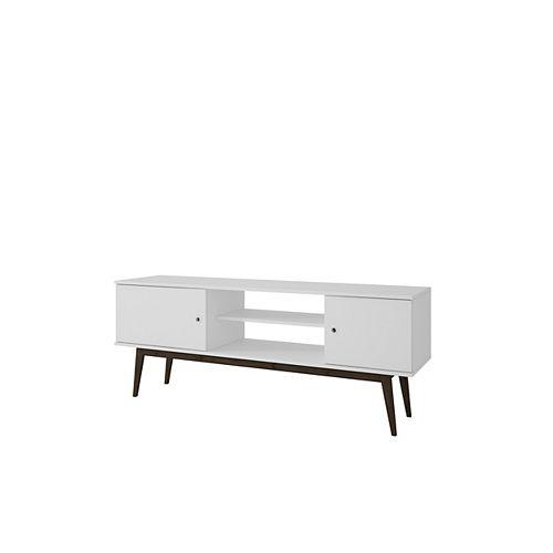 Salem Splayed Leg TV Stand in White