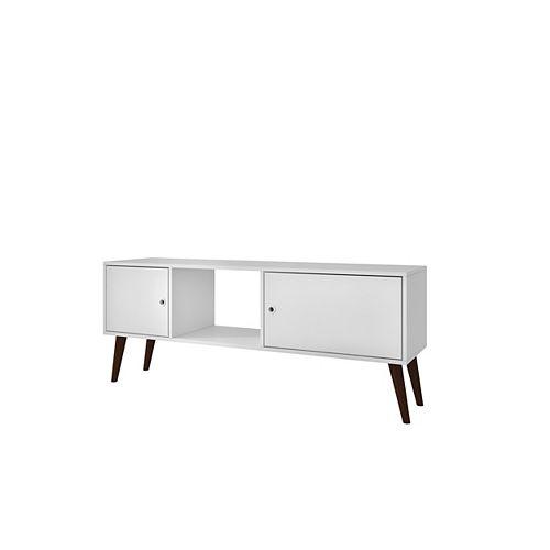 Varberg Splayed Leg TV Stand in White