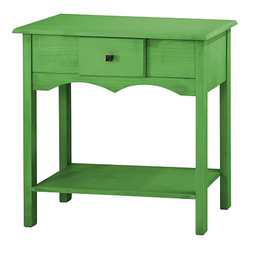 """Jay 31.49"""" Tall Sideboard with 1 Full Extension Drawer in Green Wash"""