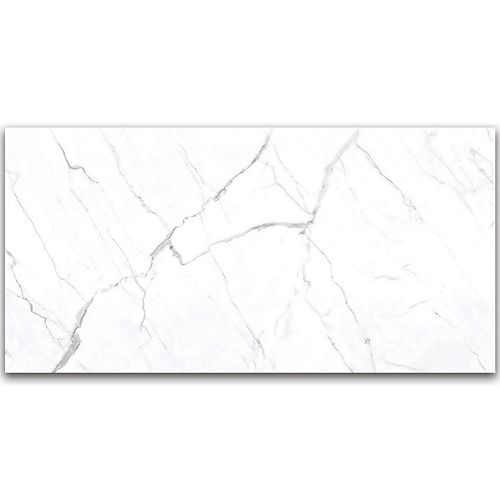 Statuario 24-inch x 48-inch Polished Rectified Porcelain Tile (15.5 sq.ft. / case)