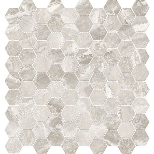 Enigma Marino Grey 1.25-inch x 1.25-inch Hexagon Polished Porcelain Tile (9.68 sq.ft. / case)