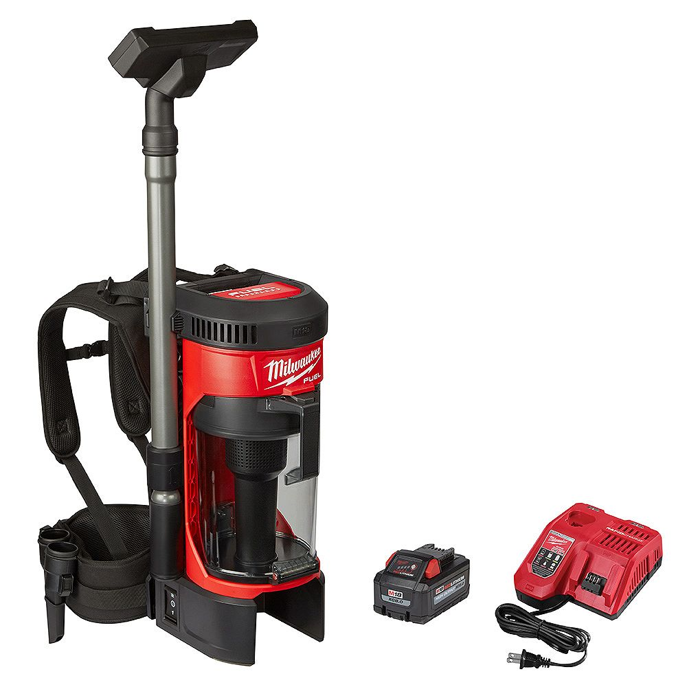 Milwaukee Tool M18 Fuel 18V Lithium-Ion Brushless Cordless 1 Gal. 3-in-1 Backpack Vacuum Kit w/ 8.0Ah Battery