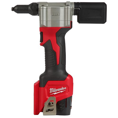 M12 12V Lithium-Ion Cordless Rivet Tool Kit with (2) 1.5Ah Batteries and Charger