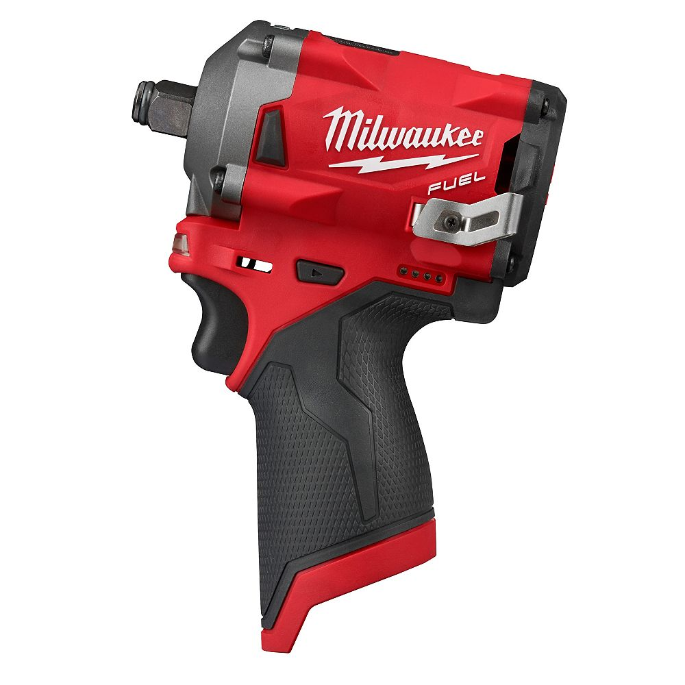 Milwaukee Tool M12 FUEL 12V Lithium-Ion Brushless Cordless Stubby 1/2-inch Impact Wrench (Tool Only)