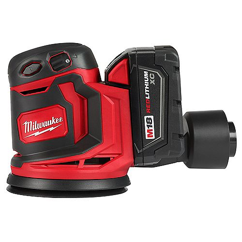 M18 18V Li-Ion 5 -Inch Cordless Random Orbit Sander Kit with (1) 3.0Ah Battery, Charger and Tool Bag