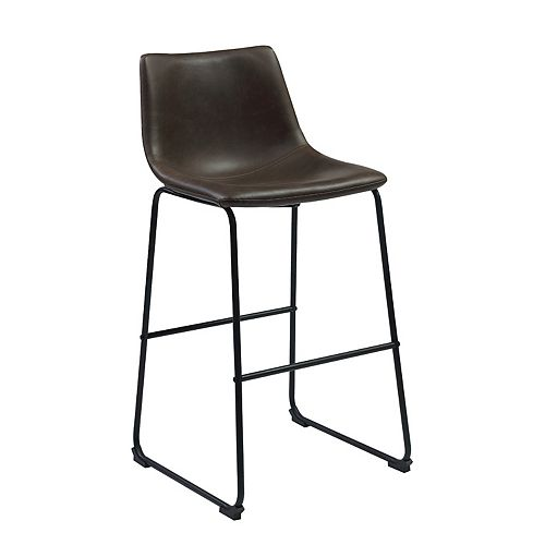 Hyde 28.5-Inch Bar Stool (Set of 2) in Two-Tone Brown