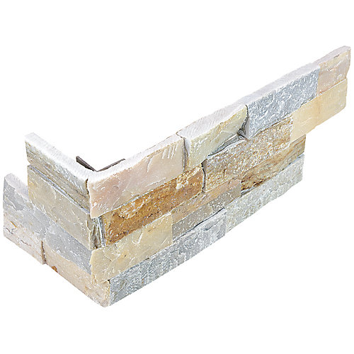 Costa 6-inch x 18-inch Ledger Stone Assembled Corner Tile (6 pieces / case)