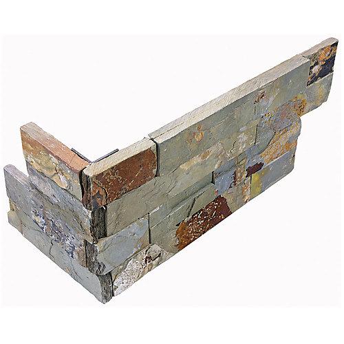 Carreau d'angle assemblé Dorada, 6 po x 18 po, 6 morceaux/caisse, pierre de ledger