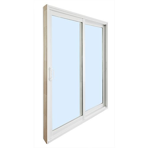 6 ft. Reversible Ready to Assemble Patio Door Kit with Wood Cladded Frame