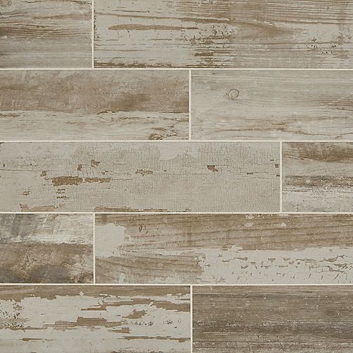 Marazzi Vintage Chic Gray 6-inch x 24-inch Glazed Porcelain Floor and Wall Tile (14.53 sq. ft. / case)
