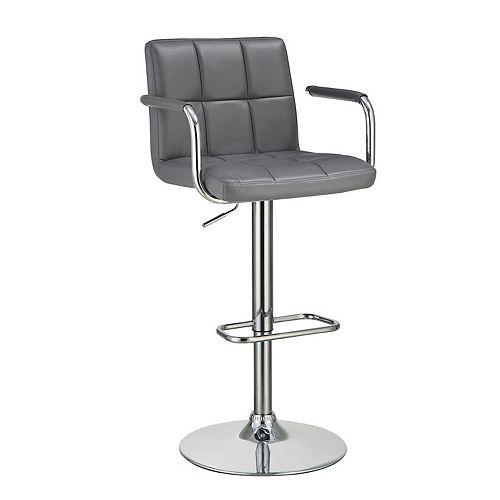 Adjustable Bar Stool in Grey
