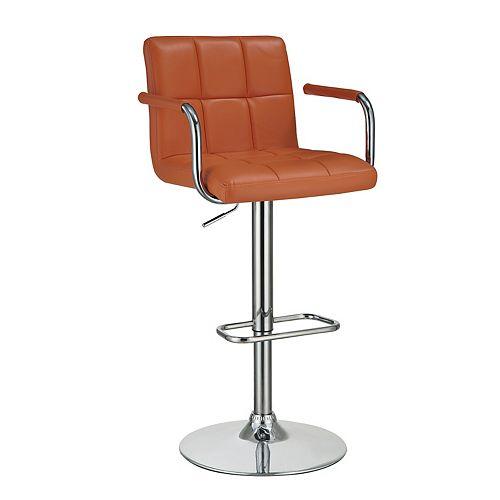 Adjustable Bar Stool in Orange