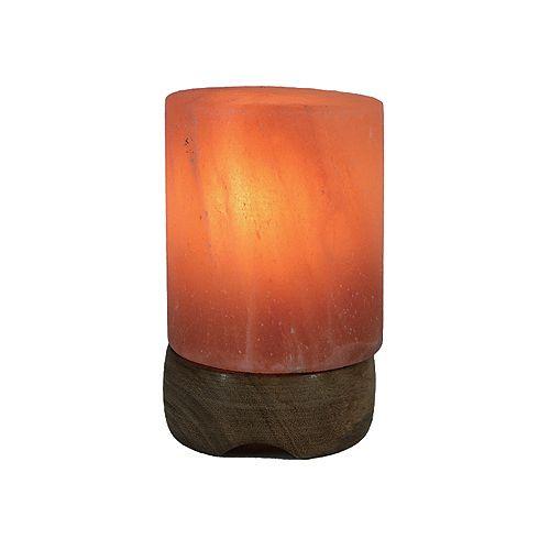 Petite Lampe de Sel de L'Himalaya Sculptée en Forme de Pilier