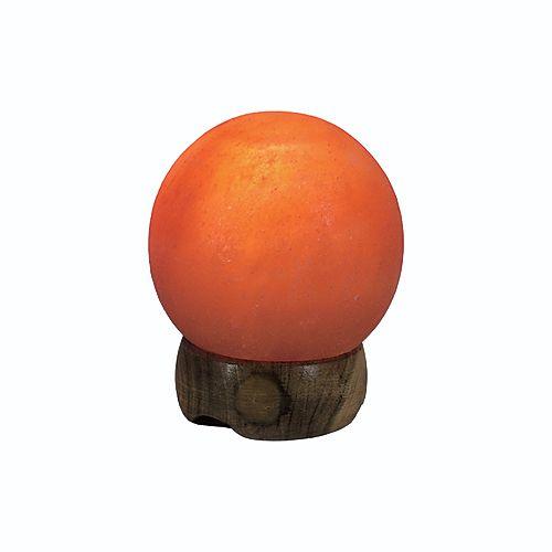 Petite Lampe de Sel de L'Himalaya Sculptée en Forme de Sphère