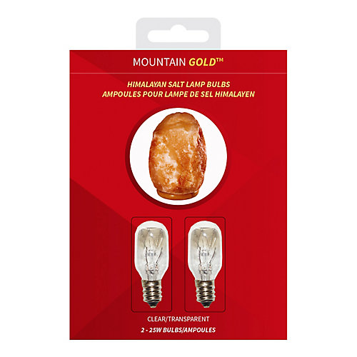 Blister Pack of 2 Clear 25W Bulbs