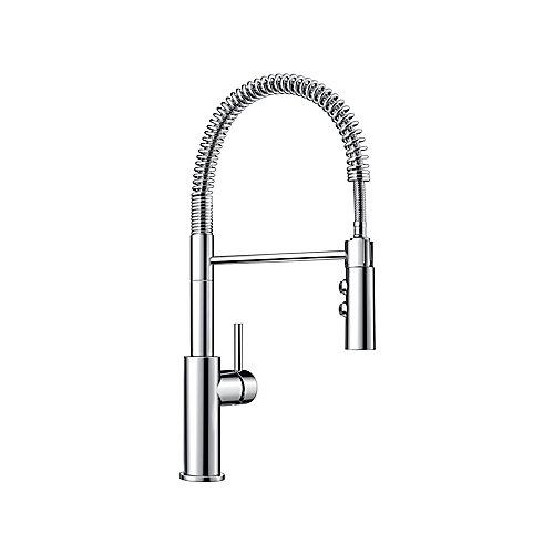 CATRIS Pull-Down Dual Spray Semi Pro Kitchen Faucet - Chrome Finish