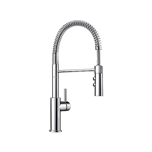 CATRIS, Semi-professional Pull-down Kitchen Faucet, 1.5 GPM flow rate (Dual-spray), Chrome