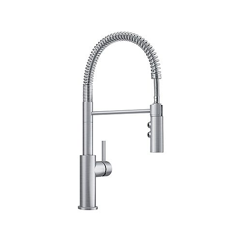 CATRIS, Semi-professional Pull-down Kitchen Faucet, 1.5 GPM (Dual-spray), Stainless Finish