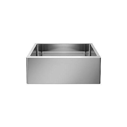 Blanco QUATRUS R15 U 1 MEDIUM APRON, Farmhouse Kitchen Sink, Stainless Steel
