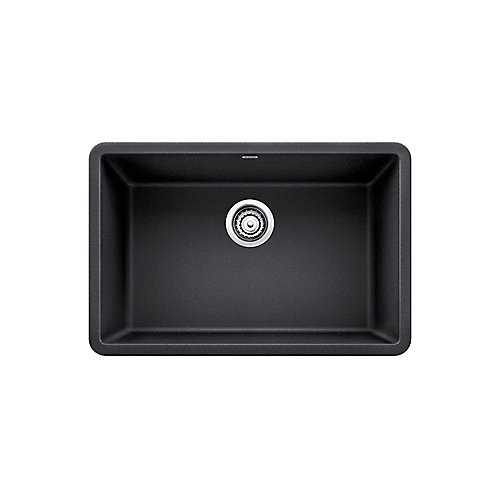 PRECIS U SINGLE 27, Single Bowl Undermount Kitchen Sink - Anthracite SILGRANIT Granite Composite