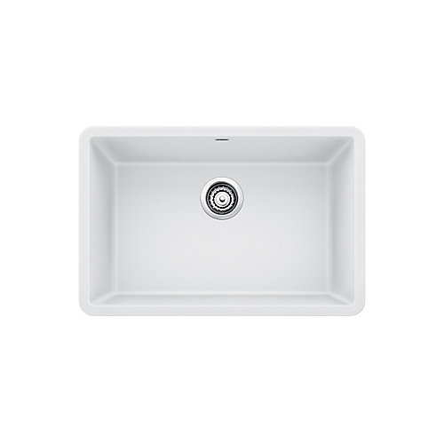 PRECIS U SINGLE 27, Single Bowl Undermount Kitchen Sink, SILGRANIT White